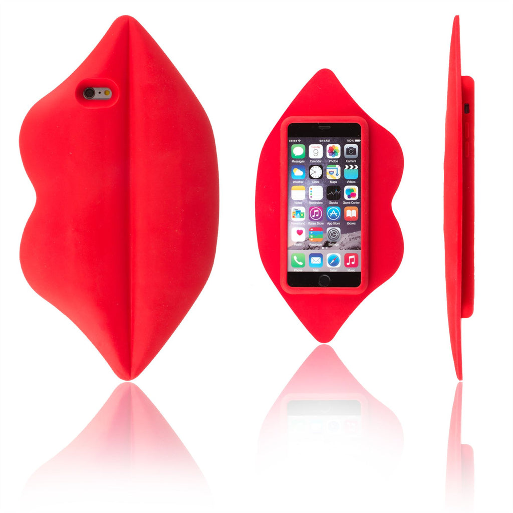 Xcessor Lips Silicone Case for Apple iPhone 6 and 6S. Red