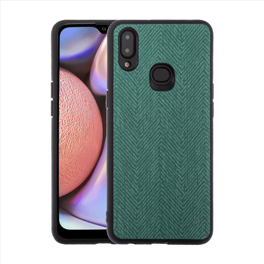 Lilware Canvas Z Rubberized Texture Plastic Phone Case for Samsung Galaxy A10S. Green