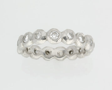 Faceted Pebbles Ring Platinum