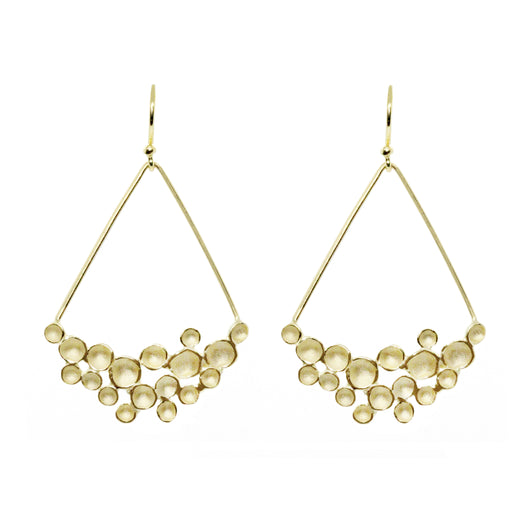 Champagne Crescent Drop Earring