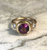 Triple Moon Bezel Ring