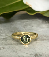 Textured Bezel Ring