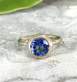 Tanzanite Moon Ring