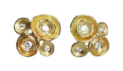 Four Pod Earrings with Diamonds