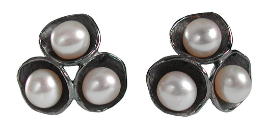 Tri-Pod Pearl Earrings