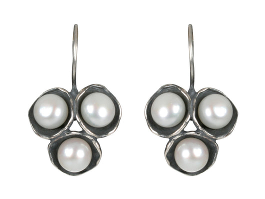 Tri-Pod Pearl Earrings with Hook