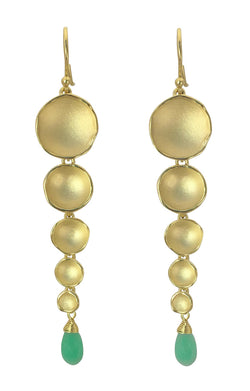 Dishy Duster Earrings with Stones