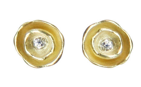 Oyster Pod Earrings with diamond