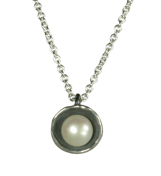 Small Dishy Pendant with Pearl