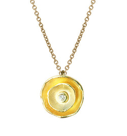 Oyster Dishy Pendant with Diamond