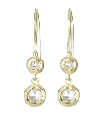 Pebble Dew Drop Earring