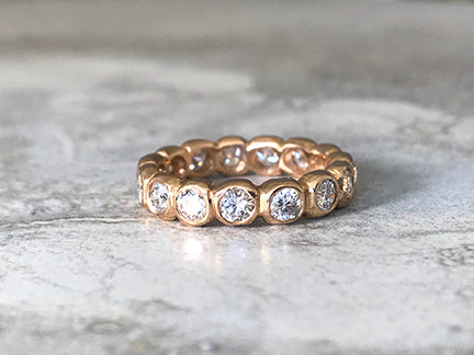 1.65 ct Diamond Pebble Eternity Ring