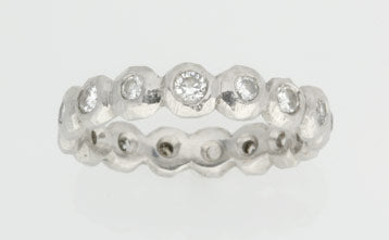 Faceted Pebble Eternity Ring