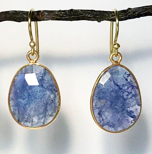 Medium Tanzanite Earrings