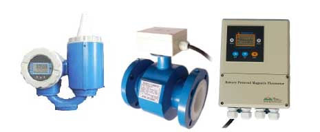 MAG888-DC Battery Powered Electromagnetic Flow Meter, ANSI 150# Flange, Chloroprene Rubber Liner