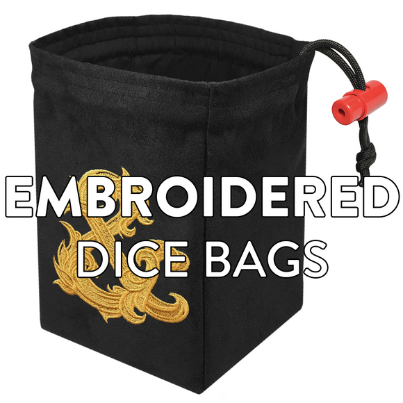 Embroidered Dice Bags