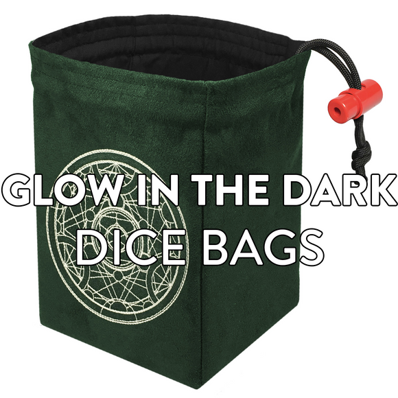 Glow in the Dark Dice Bags