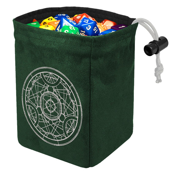 Alchemy Medallion - Glow in the Dark Dice Bag