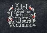 All I Want For Christmas Are Board Games Christmas Stocking