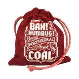 Bah! Humbug! Polyhedral Coal Dice Pouch