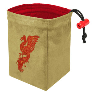 Baroque Phoenix - Embroidered Dice Bag