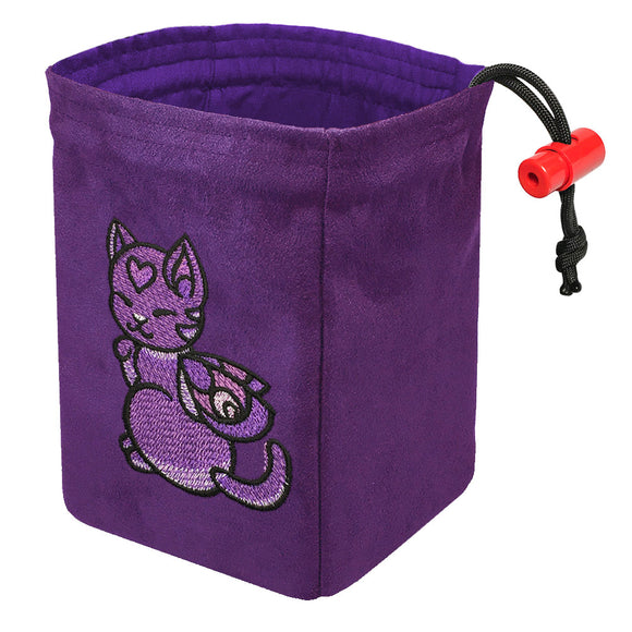 Charmed Creatures Cat - Embroidered Dice Bag
