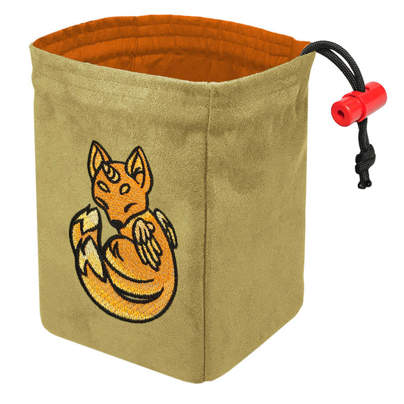 Charmed Creatures Fox - Embroidered Dice Bag