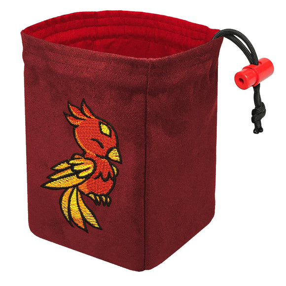 Charmed Creatures Phoenix - Embroidered Dice Bag