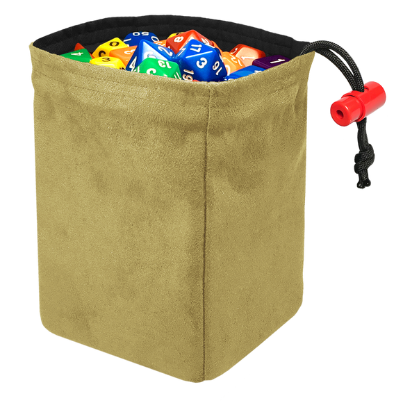 Classic Dice Bag - Tan Suede