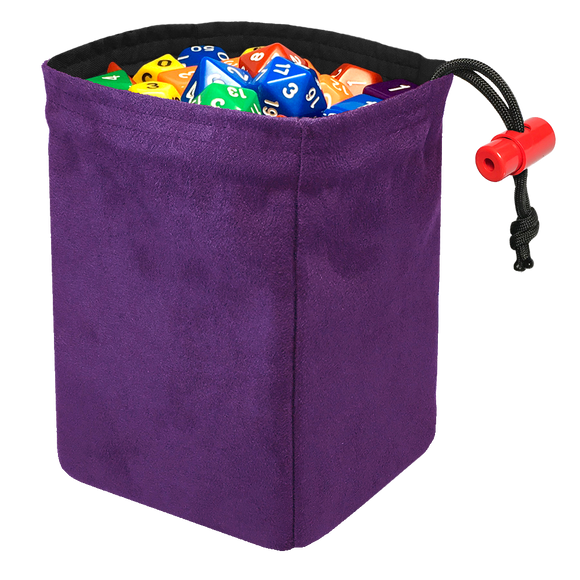 Classic Dice Bag - Purple Suede