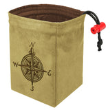 Compass Rose - Embroidered Dice Bag
