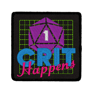 Crit Happens - Iron-On Patch