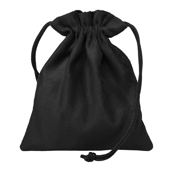 Classic Dice Pouch - Black Suede