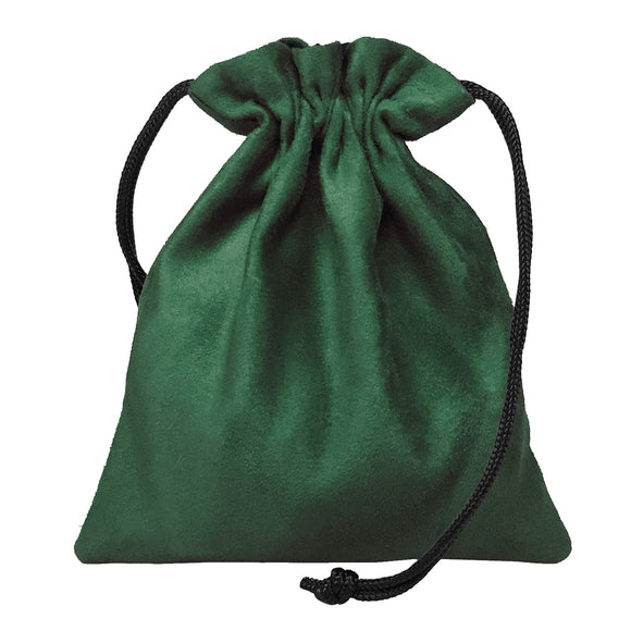 Classic Dice Pouch - Green Suede
