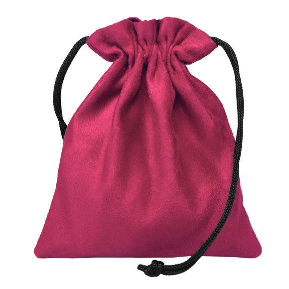 Classic Dice Pouch - Pink Suede
