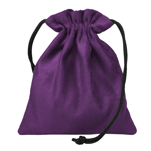 Classic Dice Pouch - Purple Suede