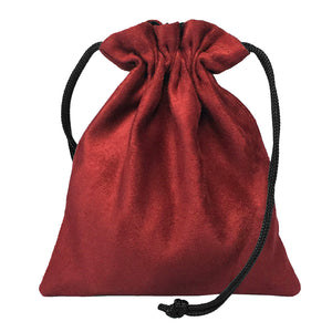 Classic Dice Pouch - Red Suede