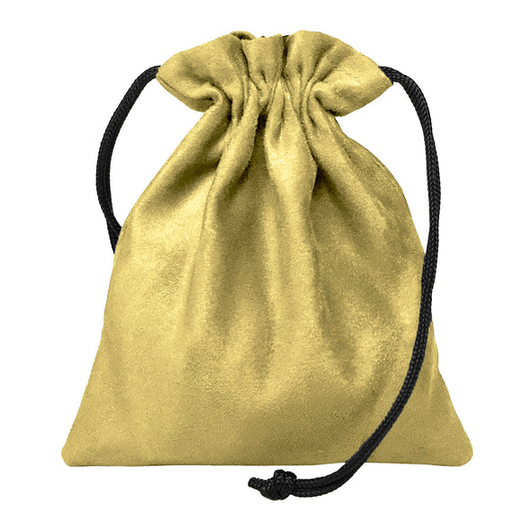 Classic Dice Pouch - Tan Suede