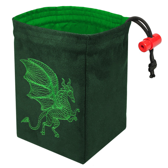 Dimensional Dragon - Embroidered Dice Bag