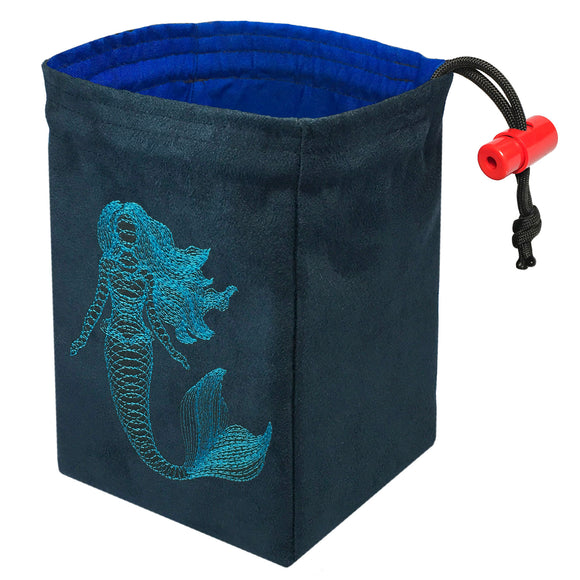 Dimensional Mermaid - Embroidered Dice Bag