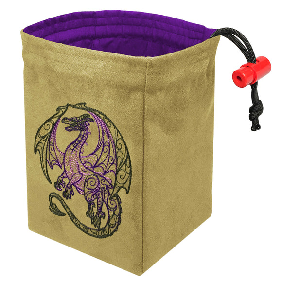 Dragon Doodle - Embroidered Dice Bag
