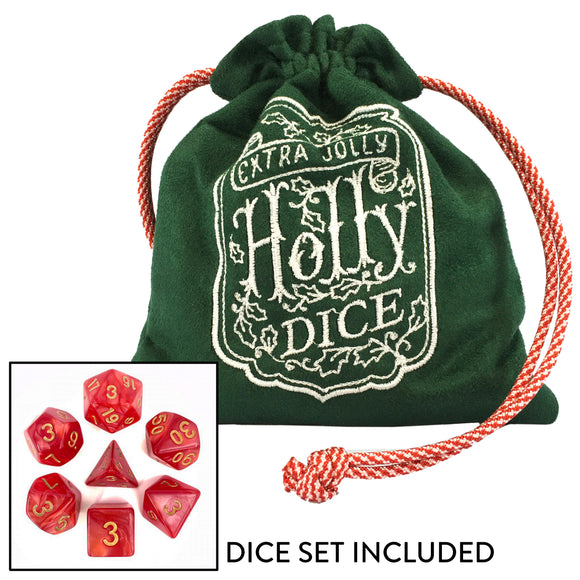 Extra Holly Jolly Dice Pouch