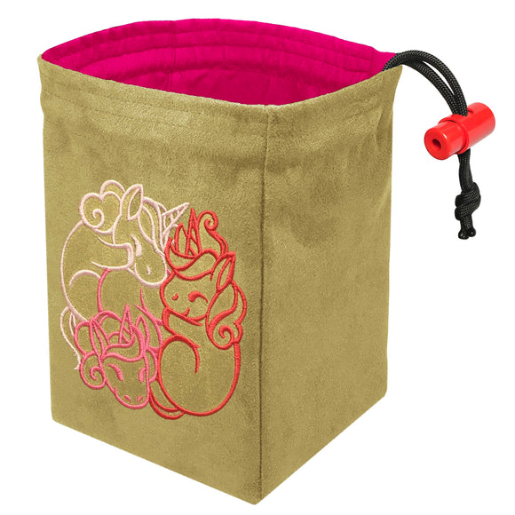 Fantasticute Unicorns - Embroidered Dice Bag