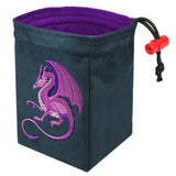 Fantasy Purple Dragon - Embroidered Dice Bag