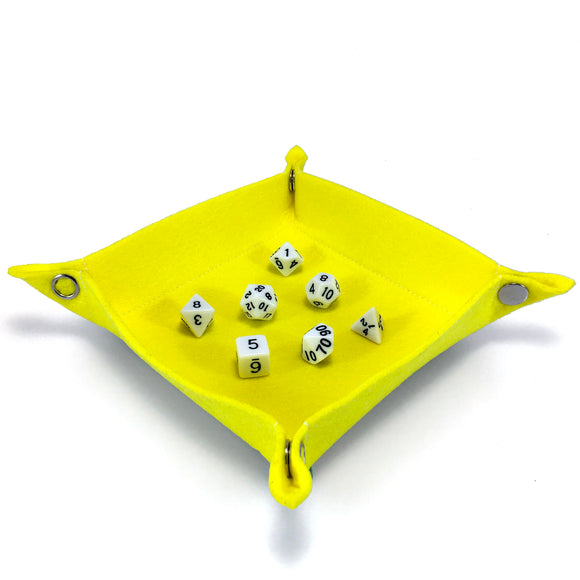Felt Collapsible Dice Tray - Yellow
