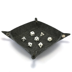 Felt Collapsible Dice Tray - Dark Gray
