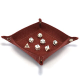 Felt Collapsible Dice Tray - Red