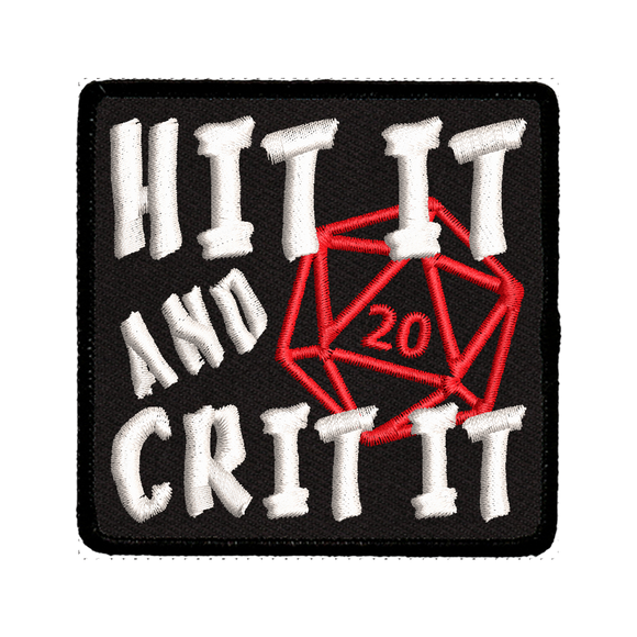 Hit It and Crit It - Iron-On Patch