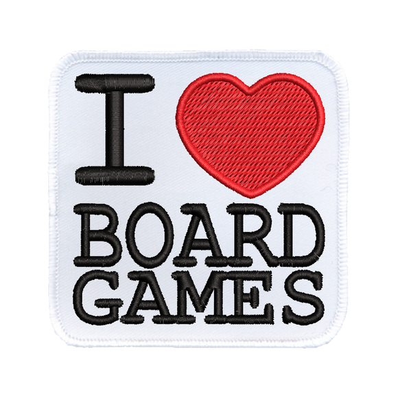 I (heart) Board Games - Iron-On Patch