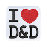 I (heart) D&D - Iron-On Patch